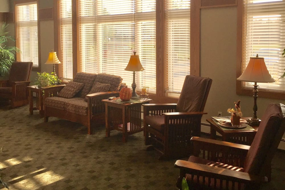 Living area at Meadow Ridge Senior Living