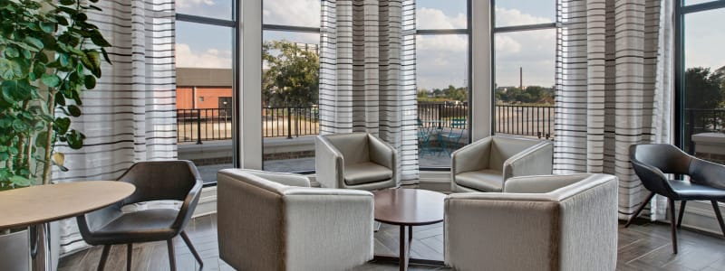 Stunning resident lounge at Mark at West Midtown in Atlanta, Georgia