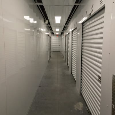 Storage hallway at Neighborhood Storage in Ocala, Florida
