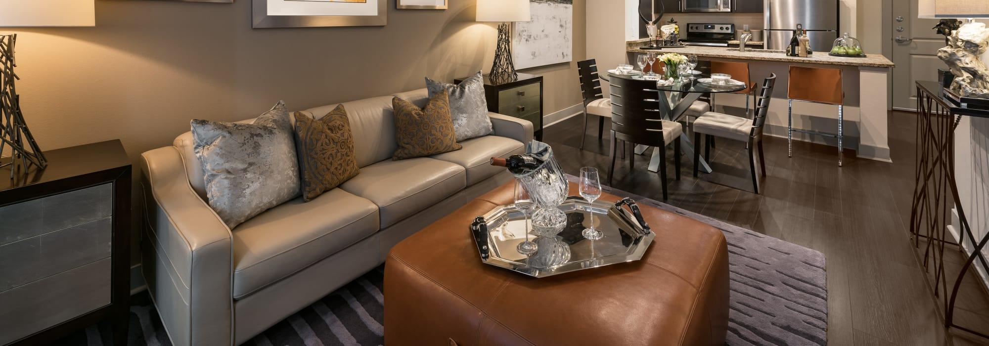 Luxury living room at Emerson Mill Avenue in Tempe, Arizona