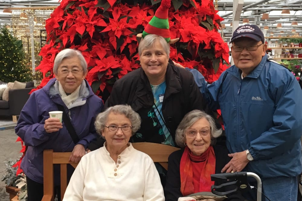 Residents getting ready for the holidays at Merrill Gardens at The University in Seattle, Washington.