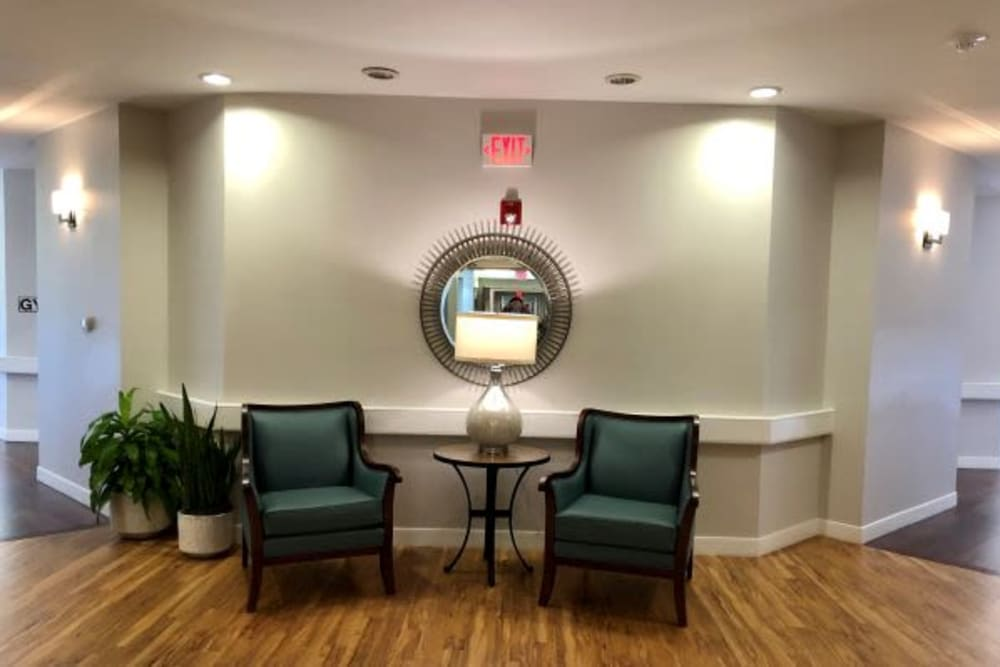 Sitting area at Parsons House Cypress in Cypress, Texas