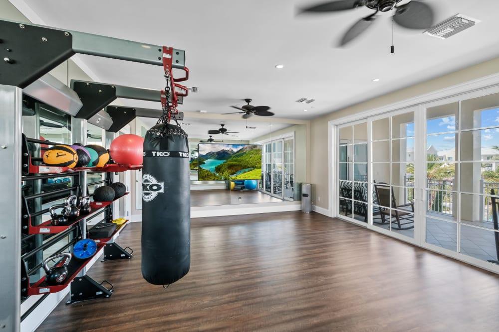 Fitness center at Town Lantana in Lantana, Florida