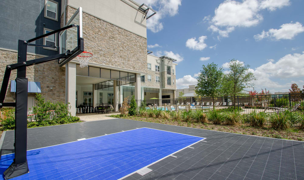 Basketball court at GreenVue Apartments