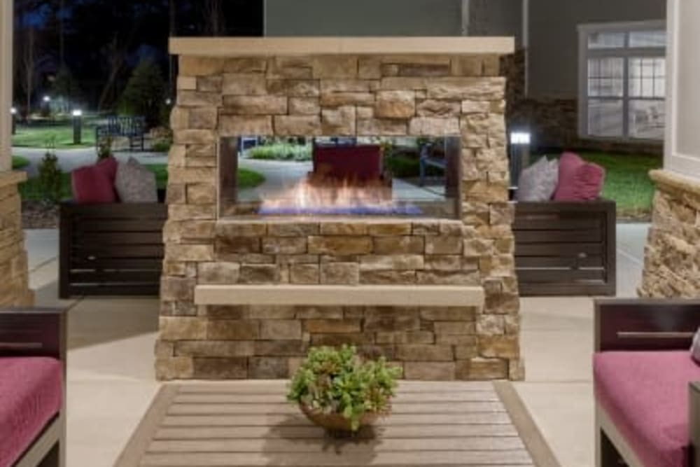 Fire pit at Anthology of Meridian Hills in Indianapolis, Indiana