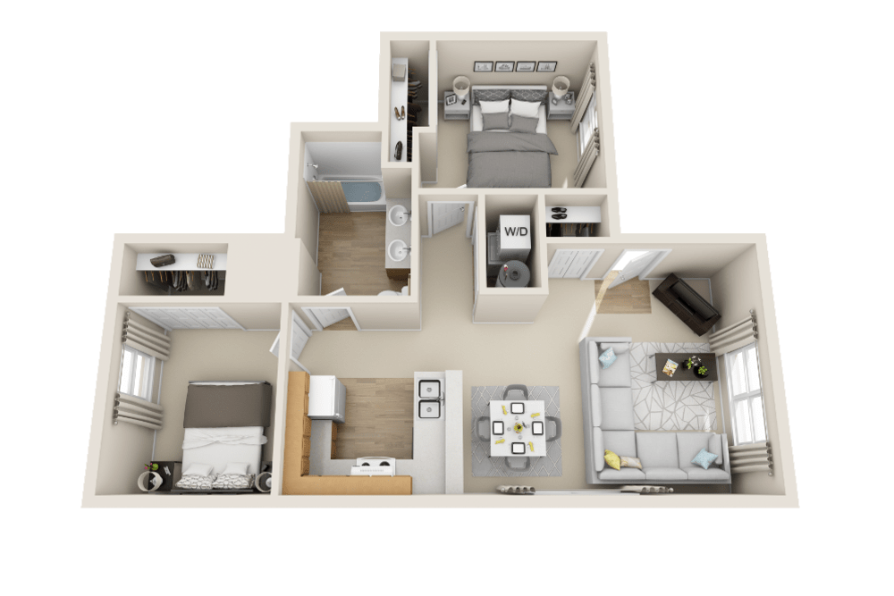 A2 floor plan at Belle Creek Apartments in Henderson, CO