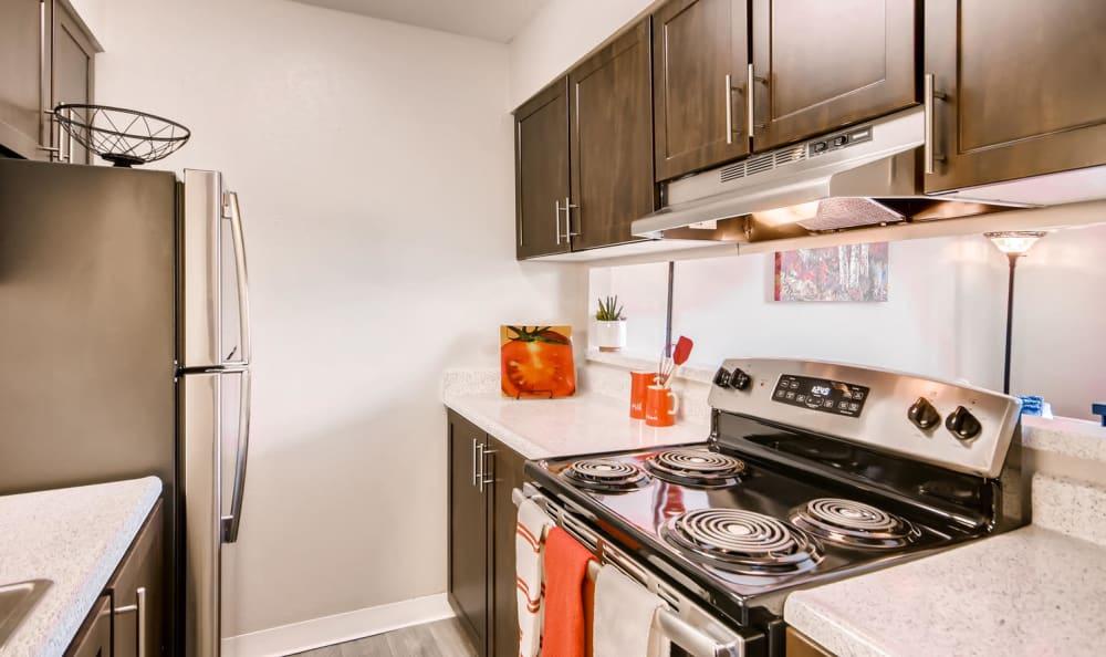Spacious kitchen with natural light at Mountain Vista in Lakewood, Colorado