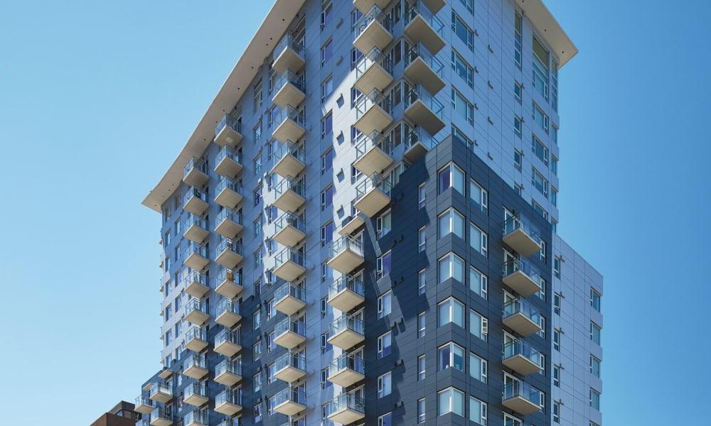 Aerial view of 19Twenty Apartments in Halifax, Nova Scotia