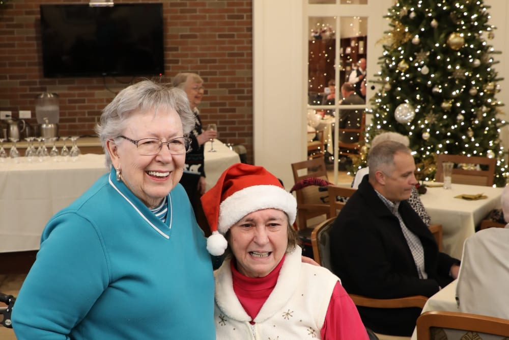 Residents having fun at the holiday event at Merrill Gardens at Madison in Madison, Alabama.