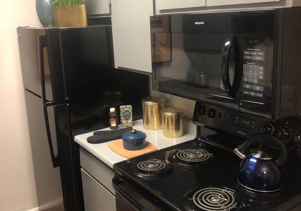 Modern kitchen at Elevation Apartments in Tucson, Arizona