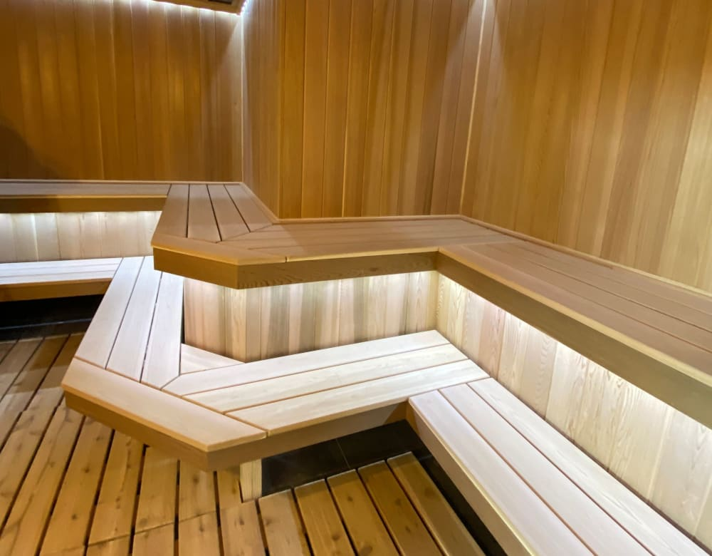 Sauna at Monarch at Ridge Hill in Yonkers, New York
