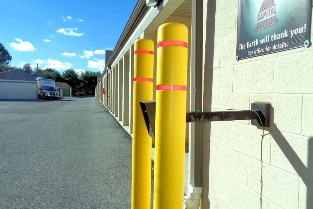 Outdoor storage units at Capital Self Storage in Harrisburg, PA