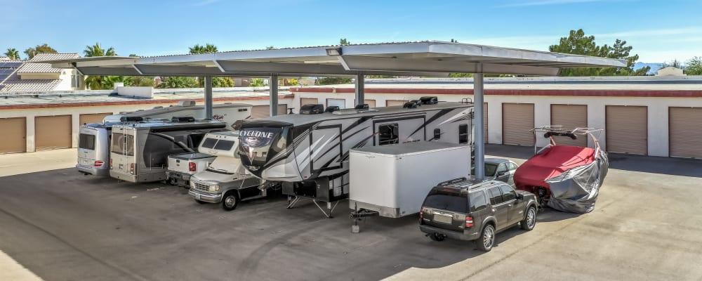 RV parking at Crown Self Storage in North Las Vegas, Nevada