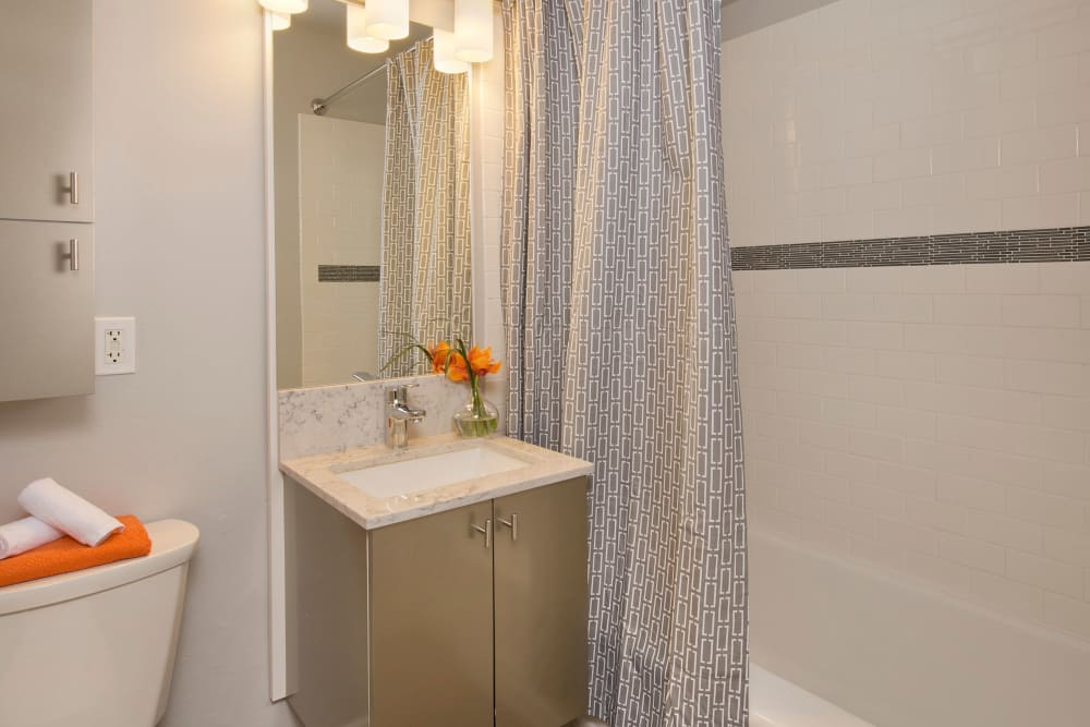 Enjoy a spacious bathroom at The Mill at First Hill in Seattle, Washington