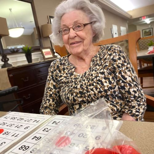 Playing Bingo at FountainBrook in Midwest City, Oklahoma