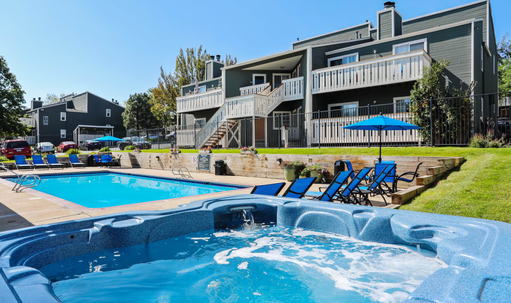 Pool in our amenities at Bluesky Landing Apartments