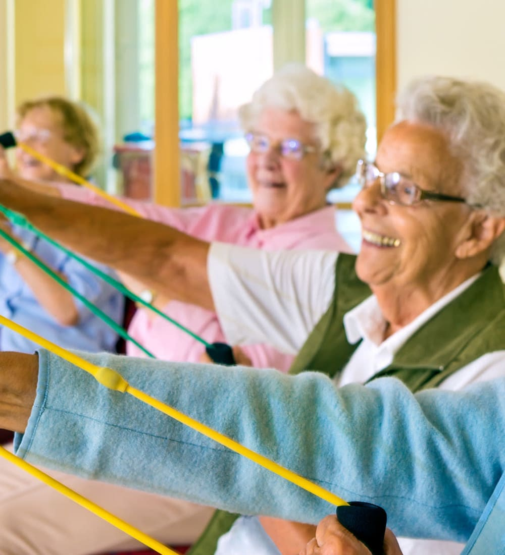 Seniors exercising at Highland Glen in Highland, Utah