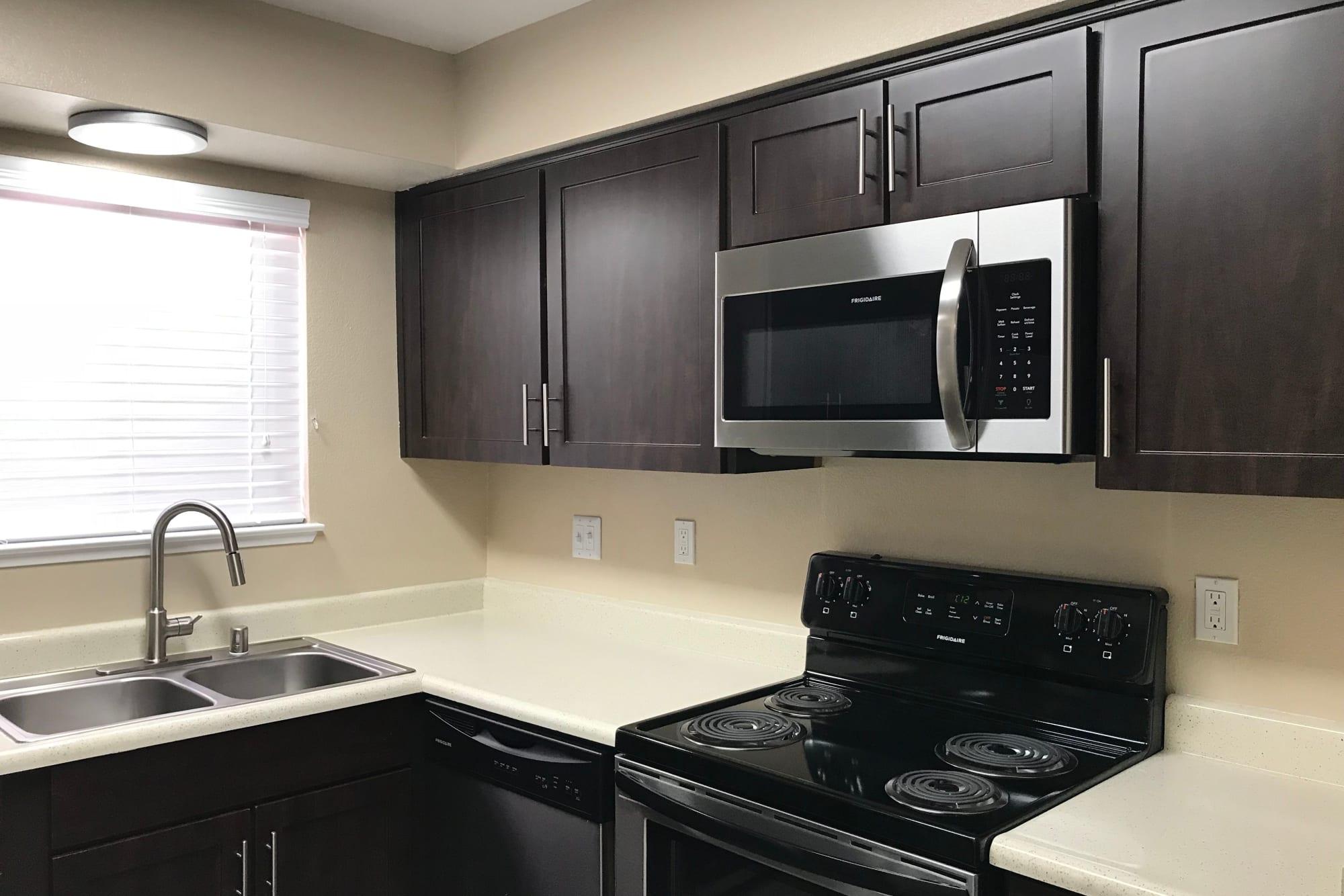 Brown renovation kitchen