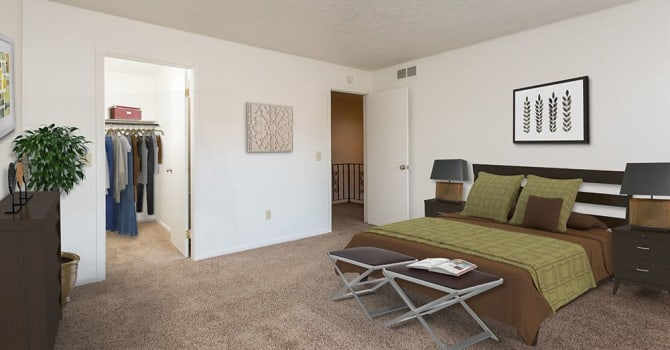 Bedroom at Brighton Colony Townhomes in Rochester, NY