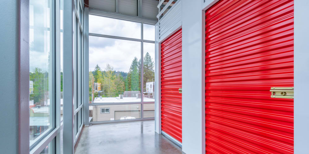 Indoor climate controlled units at StorQuest Self Storage in Seattle, Washington