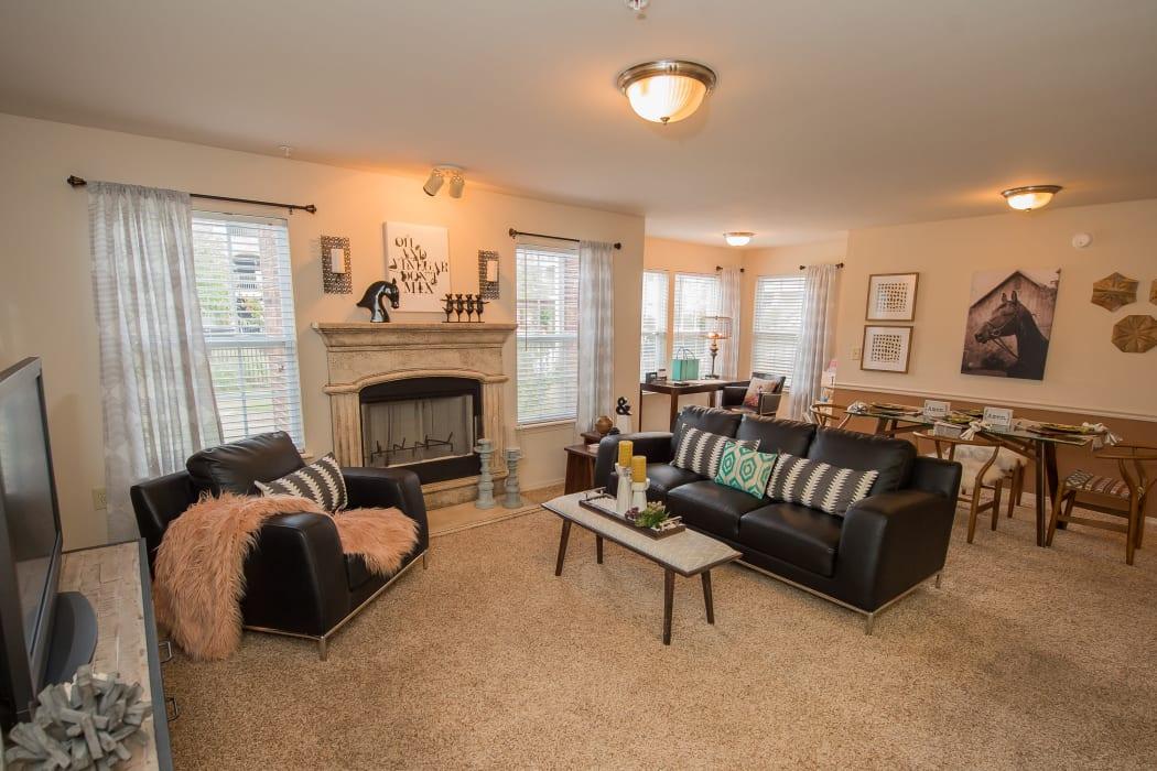 Living room at The Park on Westpointe in Yukon, Oklahoma