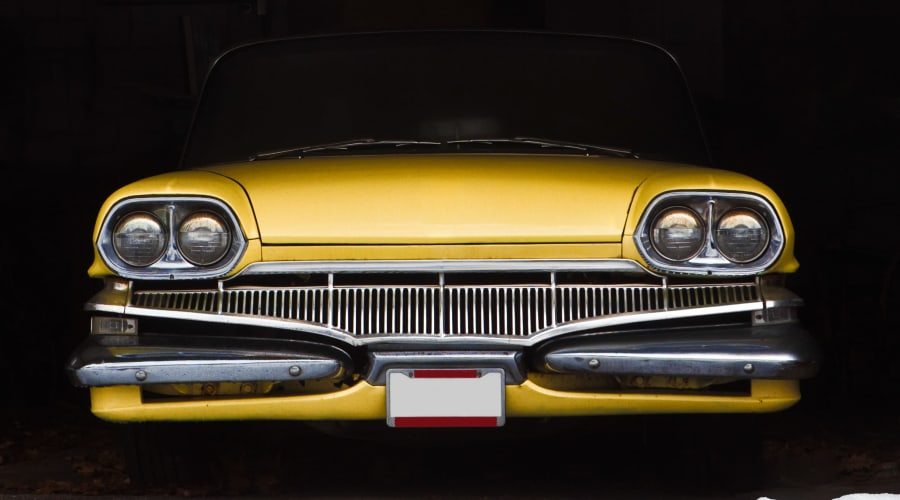 A classic car stored safely at KO Storage of Watertown - Hwy 283 in Watertown, New York