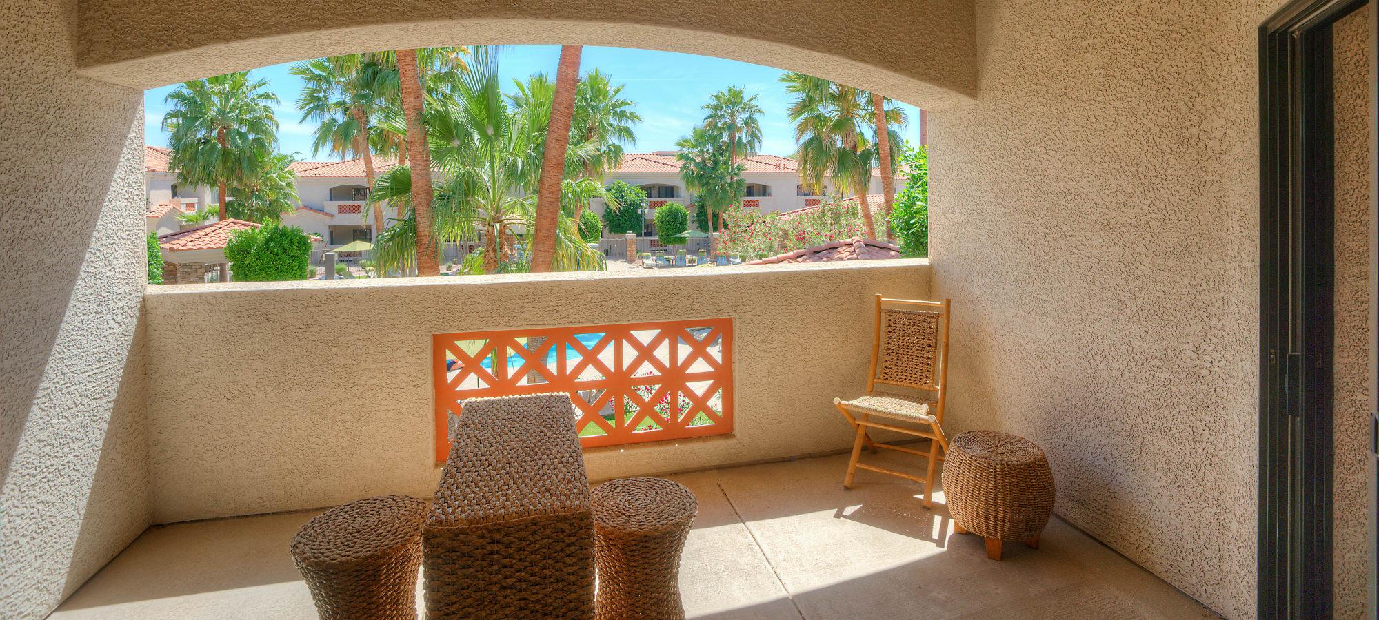 Gorgeous private patio at San Prado in Glendale, Arizona