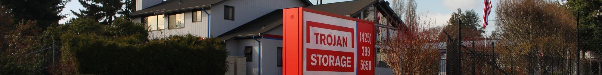 Contact us today at Trojan Storage in Everett, Washington