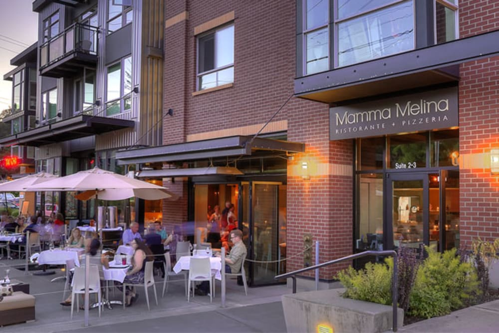 Restaurants near Merrill Gardens at The University in Seattle, Washington