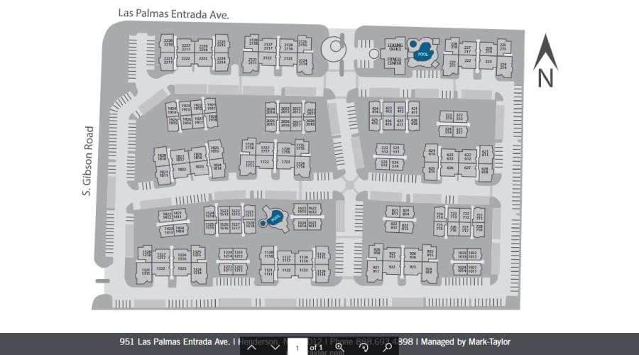 Allegro at La Entrada site plan