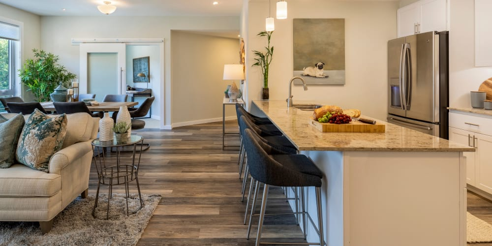 upscale senior living apartment at The Springs at Lake Oswego in Lake Oswego, Oregon