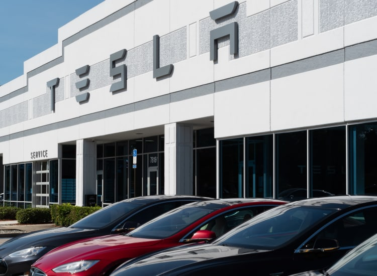 Tesla dealer of Fort Family Investments's commercial property, Perimeter Commerce Park, in Jacksonville, Florida