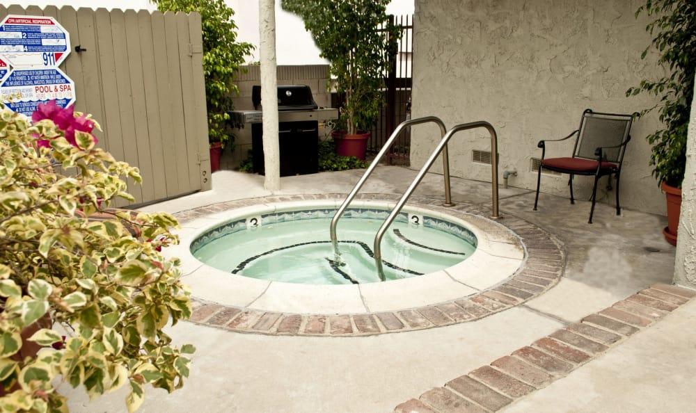 Inviting spa at The Windsor in Sherman Oaks, California