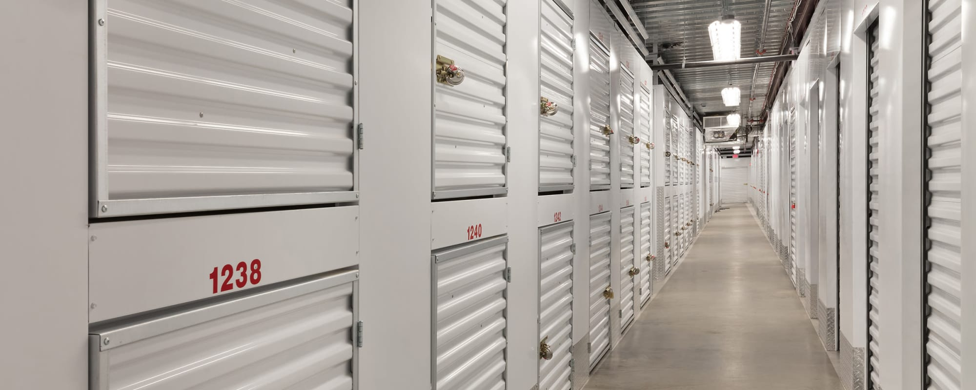 Interior units at Self Storage Plus in Lorton, VA
