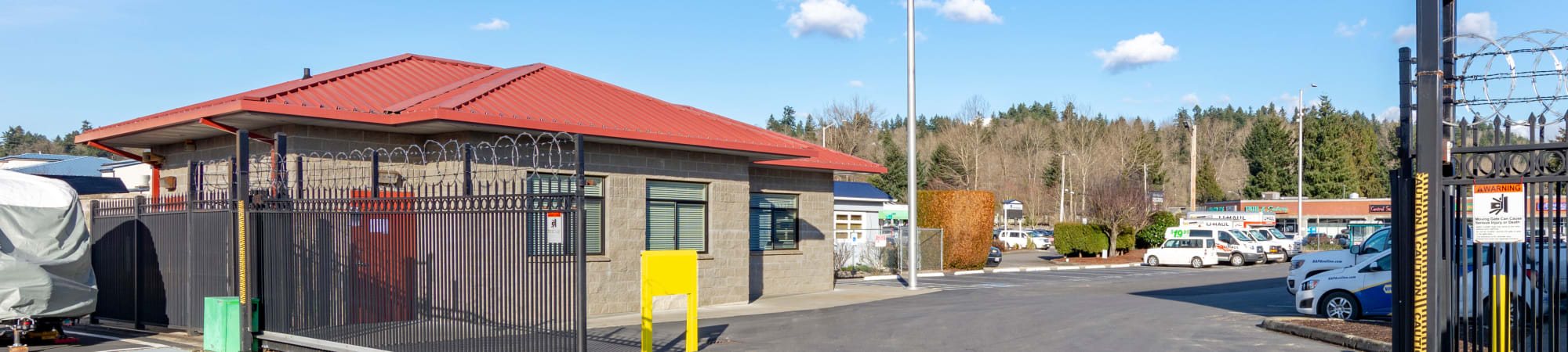 Moving truck available at Glacier West Self Storage in Kent, Washington