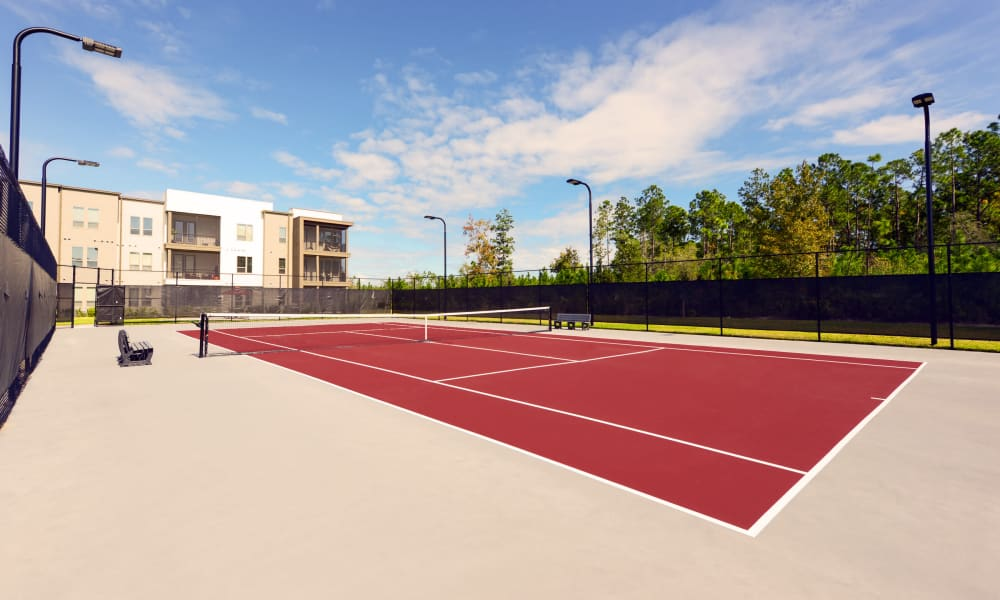 Very well-maintained tennis courts at Luxor Club in Jacksonville, Florida