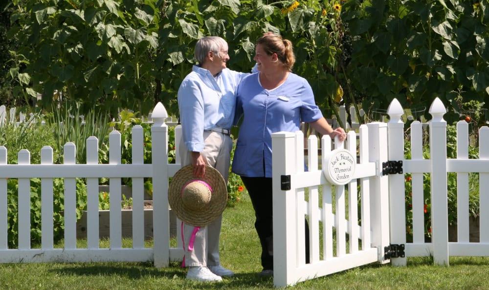 Community garden at Equinox Terrace in Manchester Center, Vermont