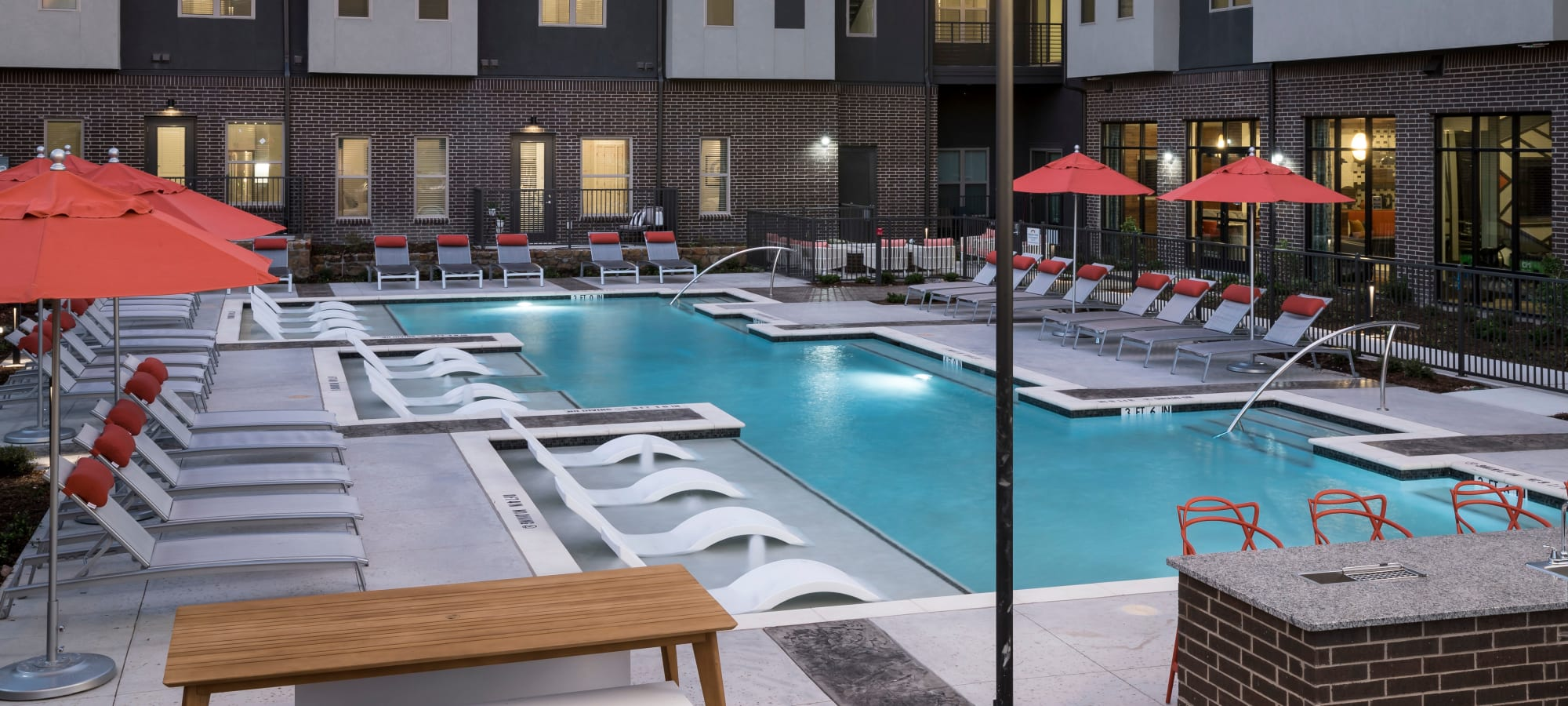 Apartments with pool at The ReVe in Garland, Texas