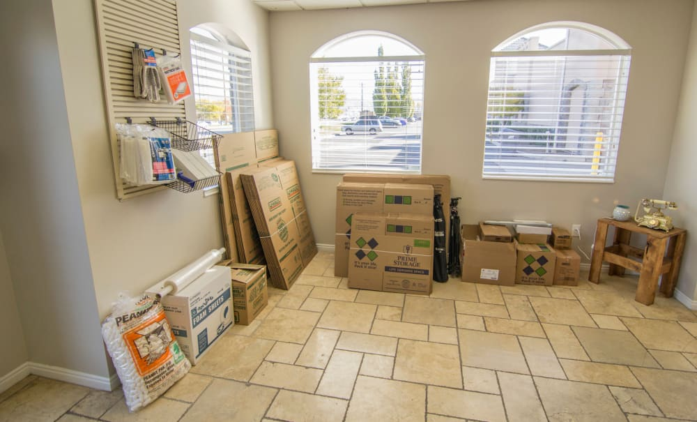 Moving and packing supplies for sale at Prime Storage in West Valley, Utah