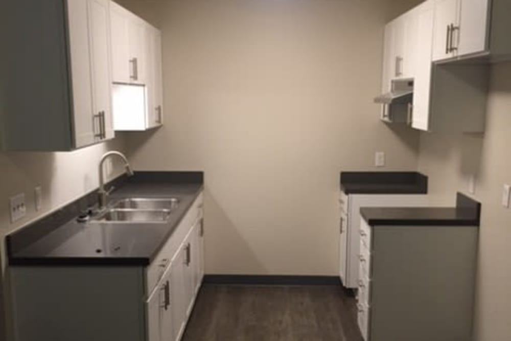 Model kitchen at Capitol Hill Apartments in Denver, Colorado