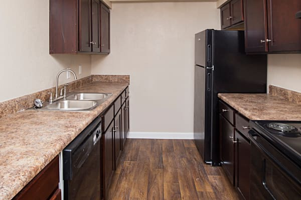 Fully equipped kitchen at Avondale Reserve in Avondale Estates, Georgia