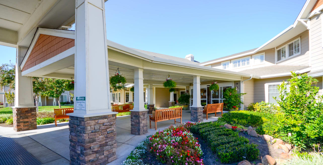 Front entrance at The Commons at Union Ranch in Manteca, California