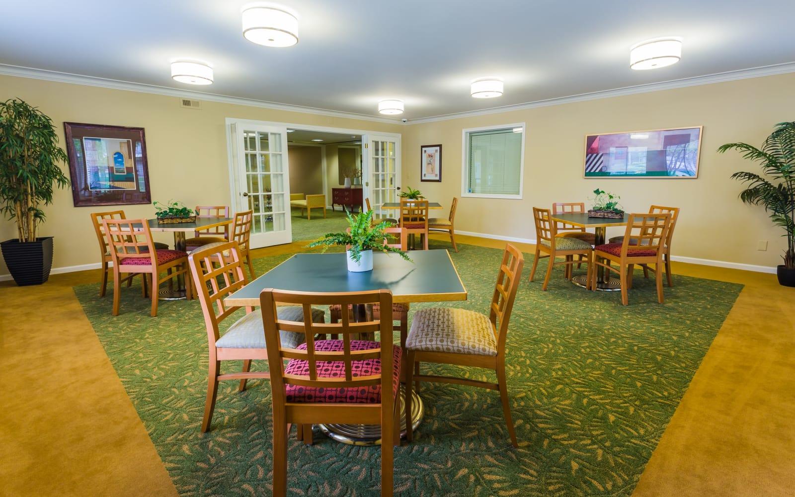 Banquet hall at Farmington Oaks Apartments in Farmington, Michigan