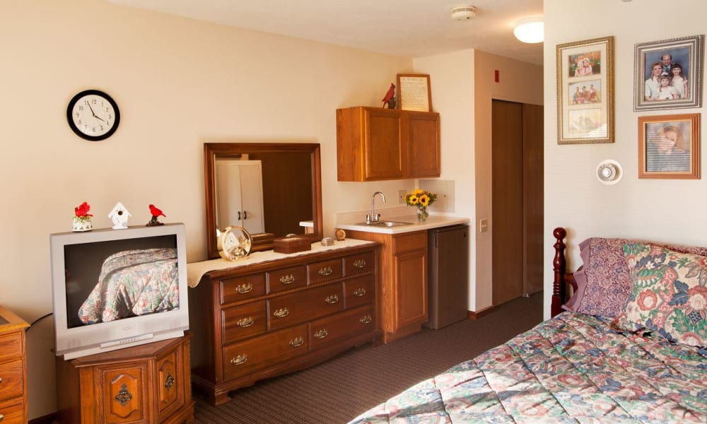 Studio senior apartment at Villa at the Lake in Conneaut, Ohio