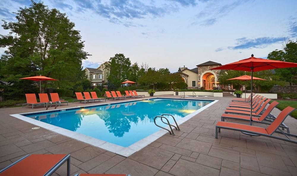 Pool at Legend Oaks Apartments