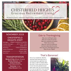 November Chesterfield Heights newsletter