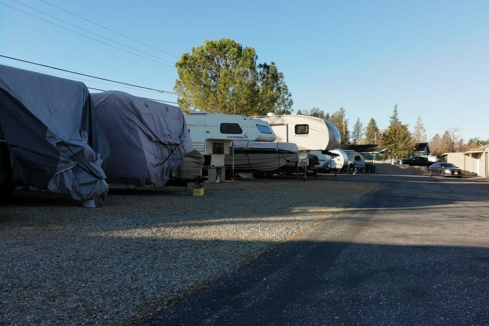RV parking at Superior Self Storage in Grass Valley, California