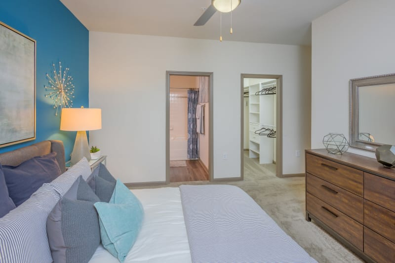 Main bedroom with carpeted floors at Presley Oaks in Charlotte, North Carolina
