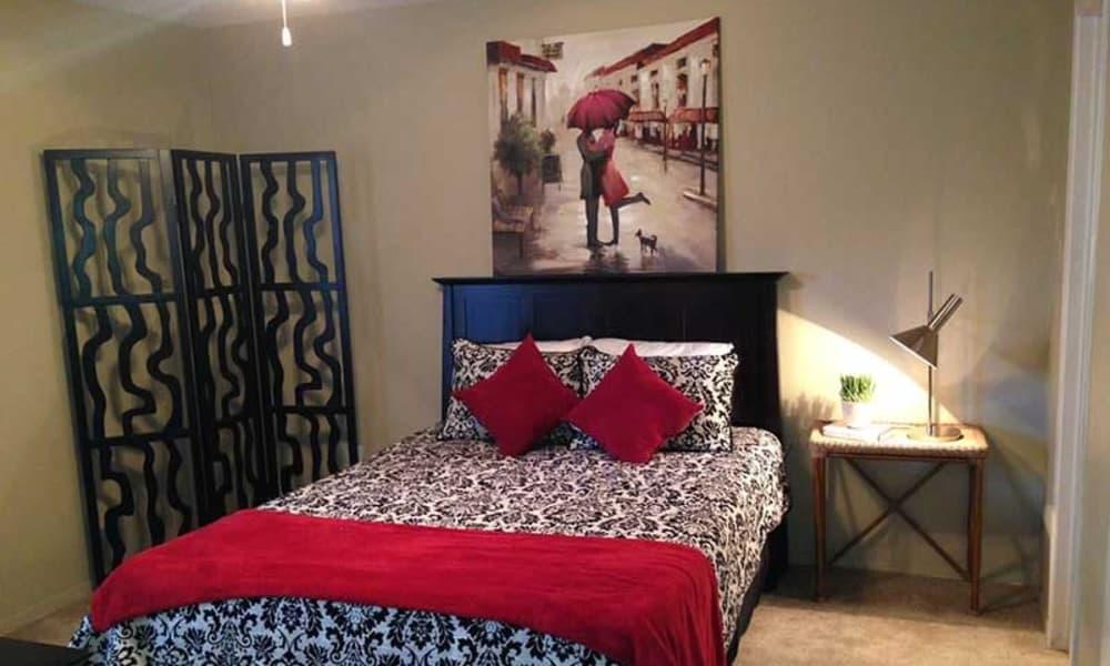 Master bedroom at Park West in Mobile, Alabama