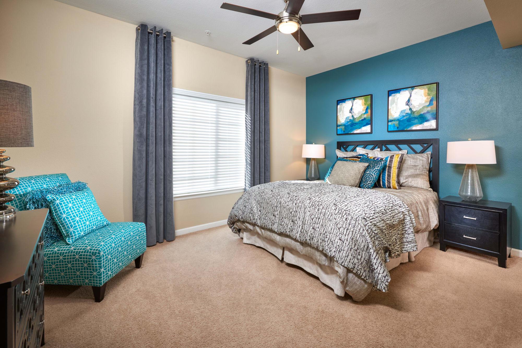 Bedroom at Skyecrest Apartments in Lakewood, Colorado